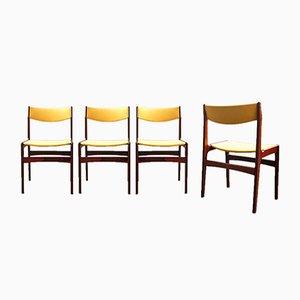 Dänische Vintage Esszimmerstühle aus Palisander, 4er Set