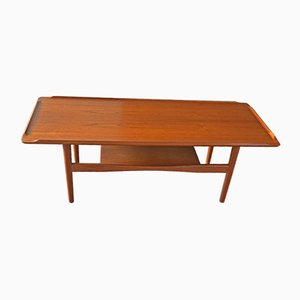 Table Basse en Teck de IMHA, 1960s