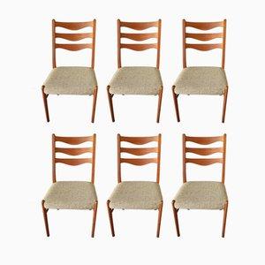 Dänische Esszimmerstühle aus Teak von Arne Wahl Inversen für Glyngøre Stolefabrik, 1960er, 6er Set