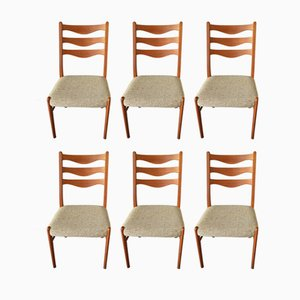 Danish Teak Dining Chairs by Arne Wahl Inversen for Glyngøre Stolefabrik, 1960s, Set of 6