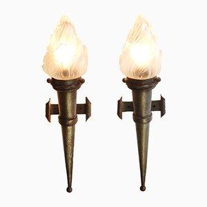 Wandlampen, 1910er, 2er Set