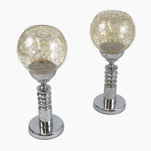 Lámparas de mesa de Fratelli Toso, años 60. Juego de 2