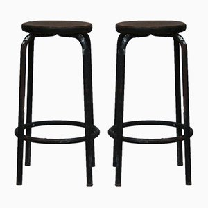 Italian Industrial Work Stools, 1930s, Set of 2