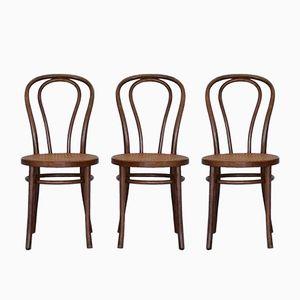 Vintage Nr. 18 Stühle von Michael Thonet für ZPM Radomsko, 3er Set