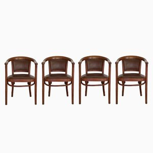 A968F Stühle von Thonet, 1930er, 4er Set