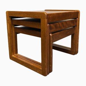 Tavolini ad incastro quadrati in teak