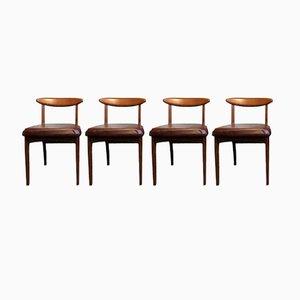 Vintage Esszimmerstühle aus Teak von Greaves & Thomas, 4er Set