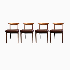 Vintage Teak Dining Chairs from Greaves & Thomas, Set of 4