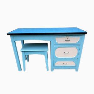 Schreibtisch & Hocker, 1950er