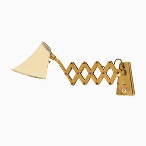 Small Mid-Century Brass Scissor Lamp, 1960s