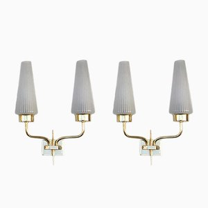 Brass Sconces from Arlus, 1960s, Set of 2