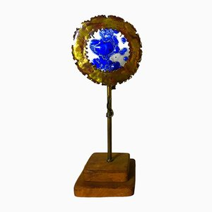 Bronze & Blown Glass Table Lamp, 1960s