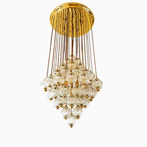 Murano Glass Cascade Ceiling Lamp, 1975