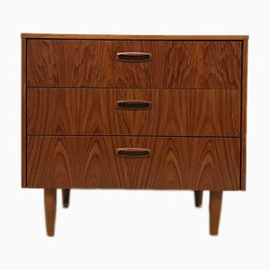 Flaming Teak Chest of Drawers, 1960s
