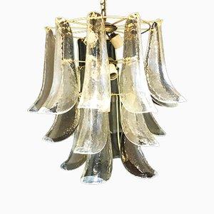 Lampada in vetro opalino di Mazzega, anni '60