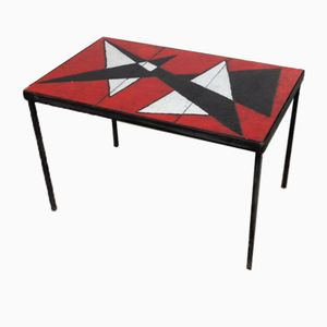Enamelled Lava Table, 1950s