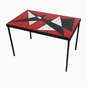 Tisch aus emailliertem Lavastein, 1950er