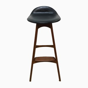 Mid-Century Bar Stool by Erik Buch for O.D. Møbler
