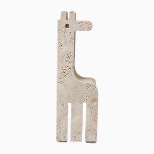 Escultura de mesa Jirafa de travertino de Fratelli Mannelli, años 70