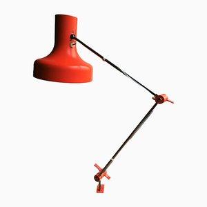 Lampada vintage con morsetto di Josef Hurka per Napako
