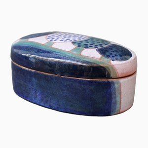 Ceramic Decorative Box by Jean and Robert Cloutier, 1970s