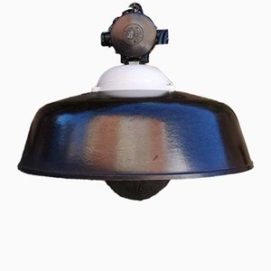 Vintage East German Industrial Bakelite Pendant Light, 1960s