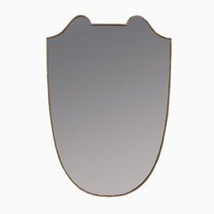 Large Mid-Century Italian Brass Mirror