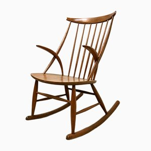 Mid-Century Rocking Chair by Illum Wikkelsø for Niels Eilersen