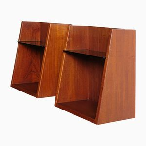 Teak Nightstands by Hans J. Wegner for Getama, 1950s, Set of 2