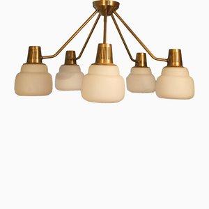 Mid-Century Deckenlampe von Hans Bergström für Ateljé Lyktan, 1950er