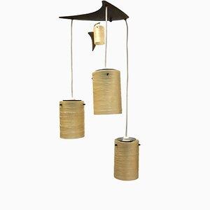 Lámpara de techo vintage de fibra de vidrio
