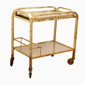 Brass Bar Cart, 1930s