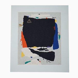 Montaru mit Gondel Farbserigraphie auf Leinen von Willi Baumeister, 1954