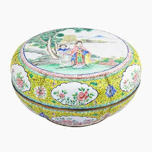 19th Century Canton Enamel Box