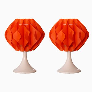 Space Age Bedside Lights from Zicoli, 1970s, Set of 2