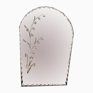 French Beveled Mirror, 1950s