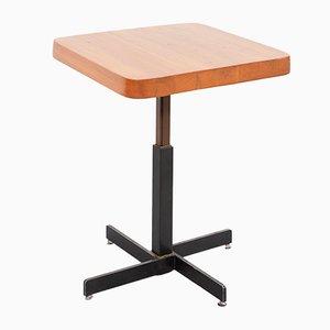 Mesa ajustable cuadrada de Charlotte Perriand, años 60