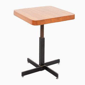 Tavolo regolabile quadrato di Charlotte Perriand, anni '60