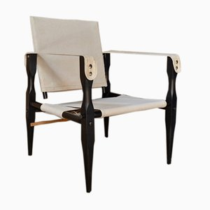Vintage Danish Safari Chairs by Kaare Klint, Set of 2