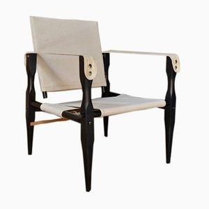 Vintage Danish Safari Chairs, Set of 2
