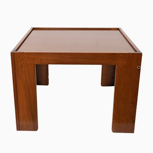 Italian Square Rosewood Coffee Table by Afra & Tobia Scarpa for Cassina, 1970s