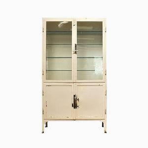 Vintage Glass and Iron Medicine Cabinet, 1940s