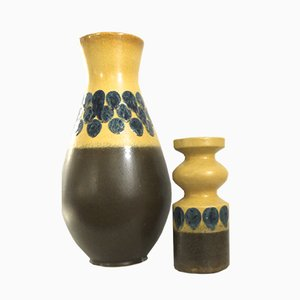 West German Ceramic Vases from Veb Haldensleben, 1970s, Set of 2