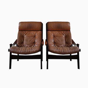 Hunter Lounge Chairs by Torbjørn Afdal for Bruksbo, 1960s, Set of 2