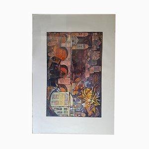 Impresión vintage de madera tallada de Esteban Fekete