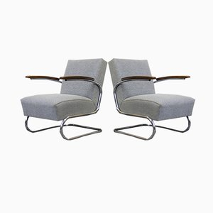 Model S411 Armchairs from Thonet, 1932, Set of 2