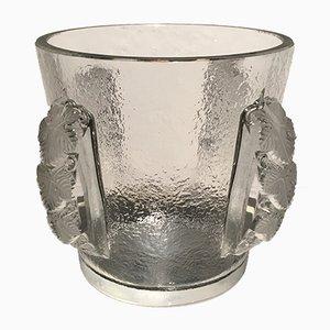 Champañera vintage de cristal de Lalique