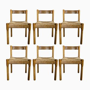 Carimate Dining Chairs by Vico Magistretti for Cassina, 1963, Set of 6