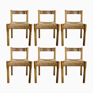 Carimate Esszimmerstühle von Vico Magistretti für Cassina, 1963, 6er Set