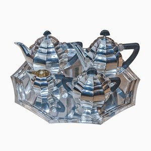 Art Deco Gallia Silver-Plated Coffee Set from Christofle